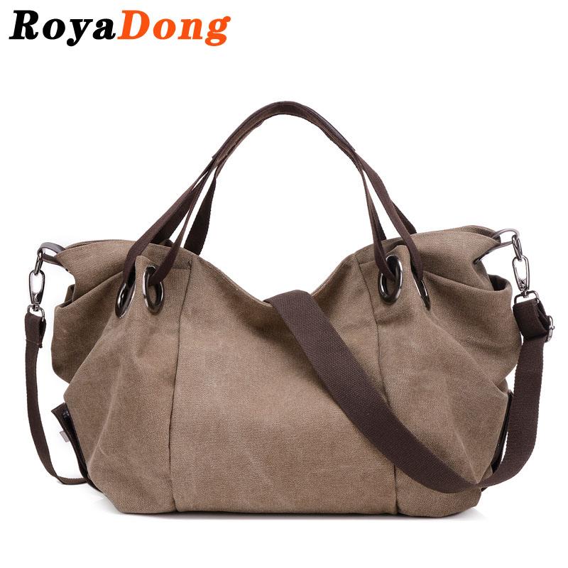 RoyaDong Women Bag Crossbody Bag For Women Big Tote Canvas Luxury Shoulder Bags Vintage Color 2016 Bolsa Feminina Sac A Main(China (Mainland))