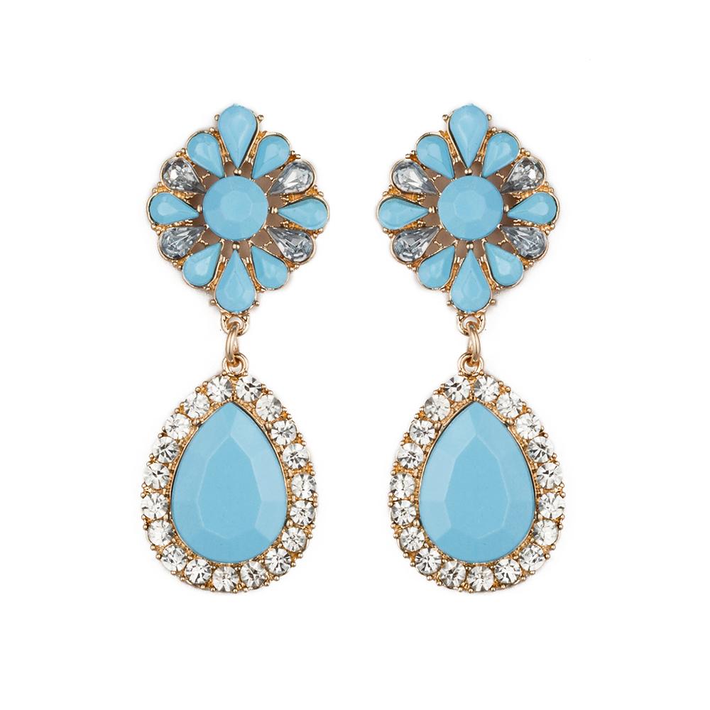 New 2014 crystal stud Earrings women party earring for ...