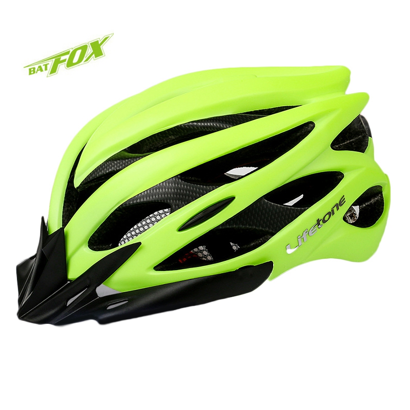 BATFOX Men Cycling Helmet Ultralight PVC+EPS Bike Helmet Integrally-molded Helmet Shock Absorption 6 Colors MTB Bicycle Helmet(China (Mainland))
