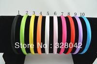 Trail order 10 colors Girl 10mm Satin Headbands Children Headbands hair band hair accessories 50pcs/lot Free Shipping
