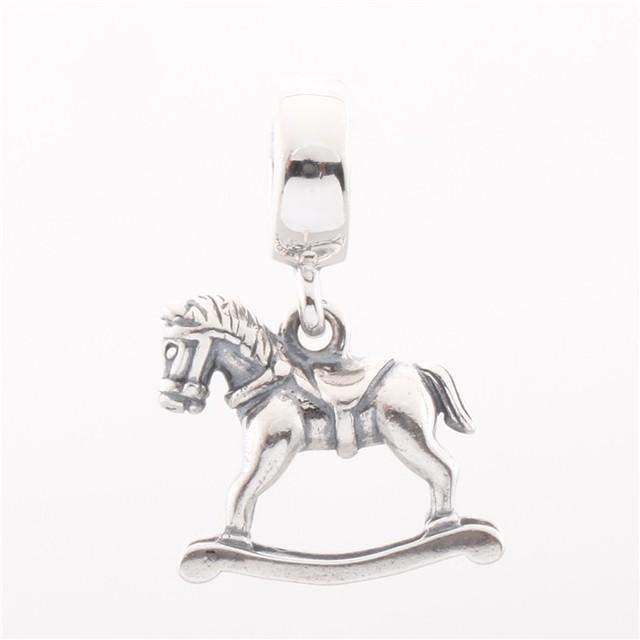 Подходит пандоры прелести ожерелье браслет 100% стерлингового серебра 925 бусины из лошадка для женщин DIY ювелирных бесплатная доставка