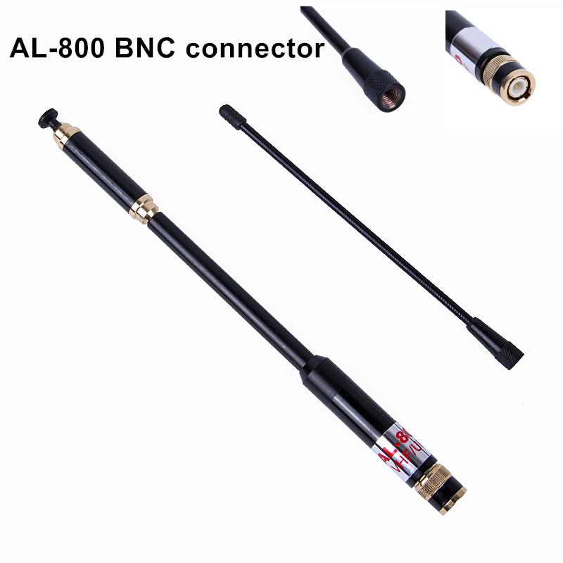 Best AL-800 BNC Dual Band 144/430MHz High Gain Super High Quality Telescopic Antenna for Kenwood TYT HYT YAESU AL800(China (Mainland))