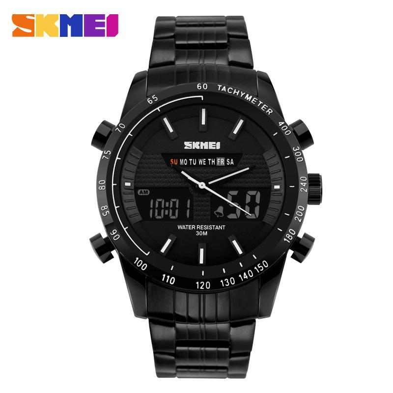 2016 Brand SKMEI Luxury Watches Tungsten Steel Quartz Watch Mens Business Casual Watch Led Wrist Watches Men montre free <br><br>Aliexpress