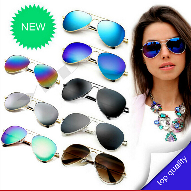 New 2015 Fashion Sunglasses Men Women Girls Cool Bat Mirror UV Protection Aviator Sun Glasses Eyewear Accessories(China (Mainland))