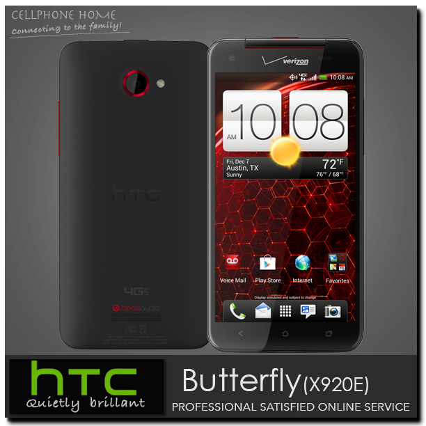 """X920E Original HTC Butterfly Droid DNA x920e unlocked Mobile phone 3G WIFI Quad-Core 5.0"""" inch 8MP 16GB ROM Android Cell phones(China (Mainland))"""
