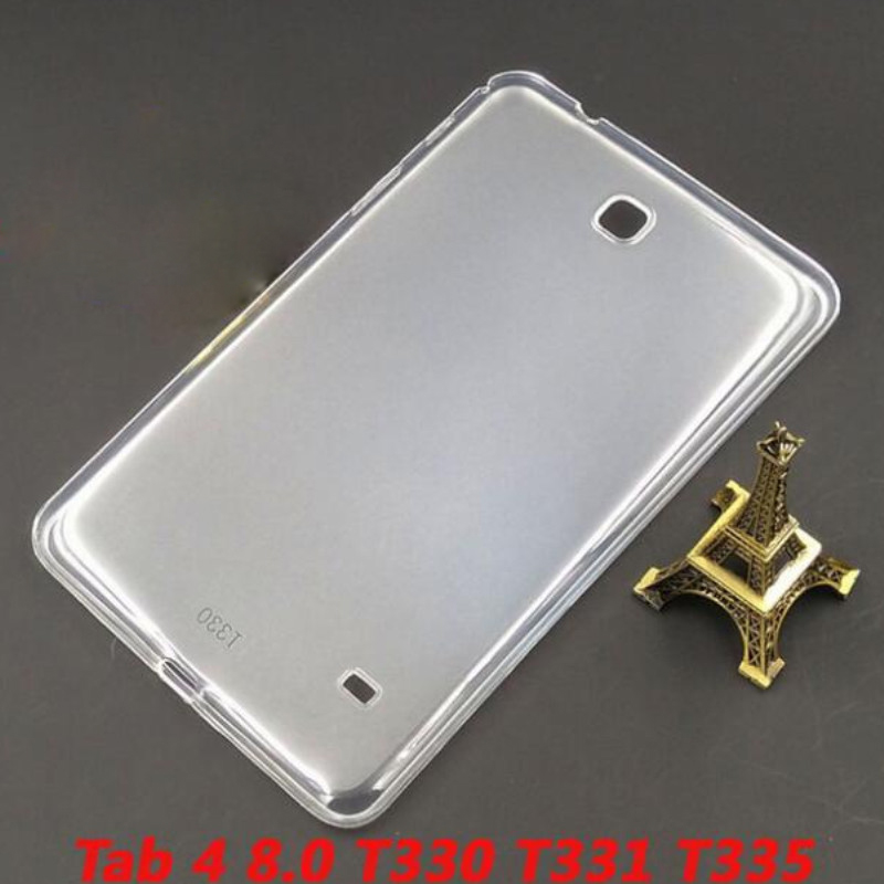 High Quality Transparent TPU Back Cover Case For Samsung Galaxy Tab 4 8.0 T330 T331 T335 Soft Silicone Tablet Case(China (Mainland))