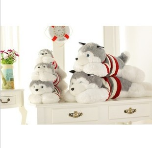 Hot sell large big stuffed plush pp cotton soft giant Husky dog toys Christmas birthday gifts 90cm(China (Mainland))