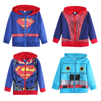 2015 Hot New Mens Spring Autumn Hooded Jackets Superhero Batman Superman Sweatshirt Black Hoody Blue Sweatshirt for Sale