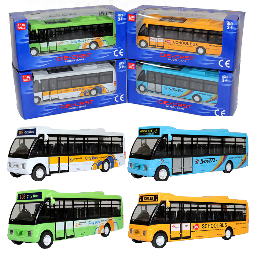 Happy Cherry Children Kids Musical Light Pull Back Cars Toys Tourist City Bus Toy Gifts for Baby Boys Girls(China (Mainland))