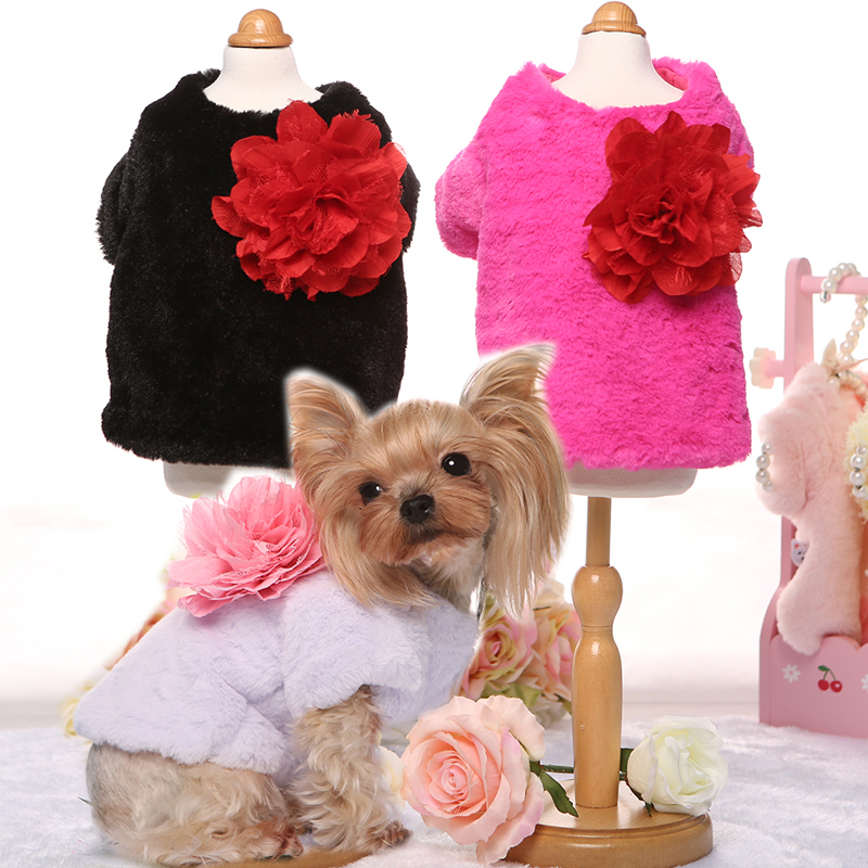 New 2015 Winter Luxury Fashion Dog Coat Cat Suit Pet Clothing For Dogs And Cats Puppy Jacket Pink,Black,Rose, Lilac, XS,S,M,L,XL(China (Mainland))