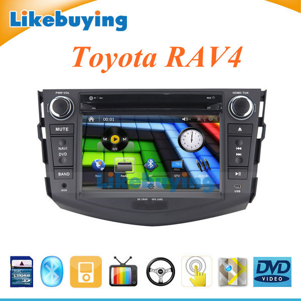2 Din 7 inch Car DVD gps navigation Stereo Radio Toyota RAV4 FREE 8GB Card map IPOD Bluetooth Optional TV/3G/WIFI - Shenzhen Being Lucky Trading Co.,Ltd store