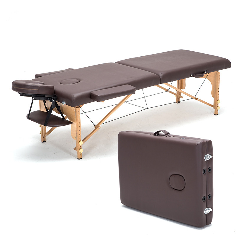 Professional Portable Spa Massage Tables Foldable with Carring Bag Salon Furniture Wooden Folding Bed Beauty Massage Table(China (Mainland))
