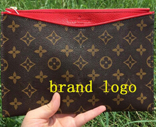 2015 with logo Day Clutches bag designer clutch famous brand Import PVC + Genuine Leather Women Handbag Wristlets Lady's Purses(China (Mainland))