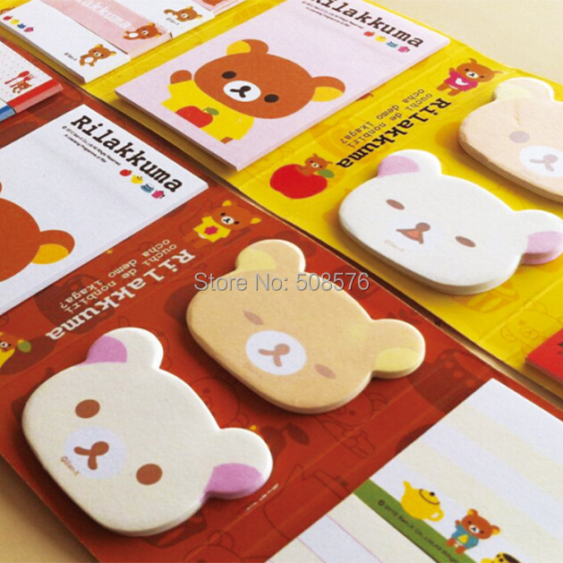 Wholesales Korea stationery creative cute little bear design memo pads kawaii  pretty small stick marker stick-on note pads <br><br>Aliexpress