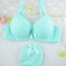 5 Color A Cup 32 34 36 2016 Sexy Women Lingerie Push Up Fresh Girls Fashion Lace Embroidery Cute Bras Set Lingerie Underwear