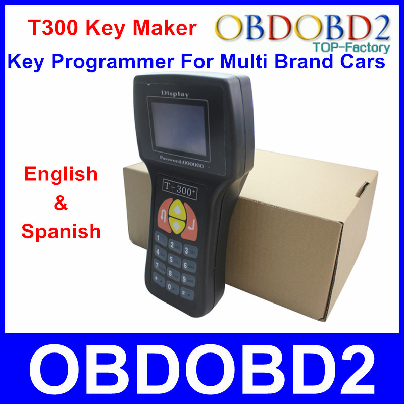 New Arrival Black T300 Key Programmer V15.8 By Read ECU Immoboilizer T-300 Key Maker T 300 Transponder Supports Multi Brand Cars(China (Mainland))
