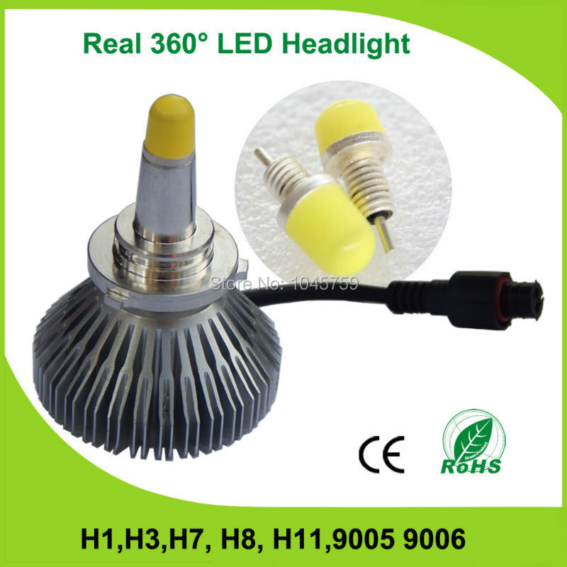 2015 Hot 360 Degree 9005(HB3) Car Headlight 1pair(2pcs) 3600lm car led lighting Free Shipping(China (Mainland))