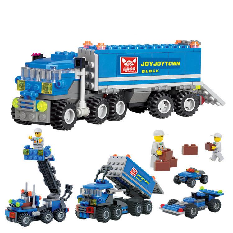 163pcs KAZI kids Bricks birthday gifts Enlighten educational toys Dumper Truck DIY toys building blocks,children toys playmobile(China (Mainland))