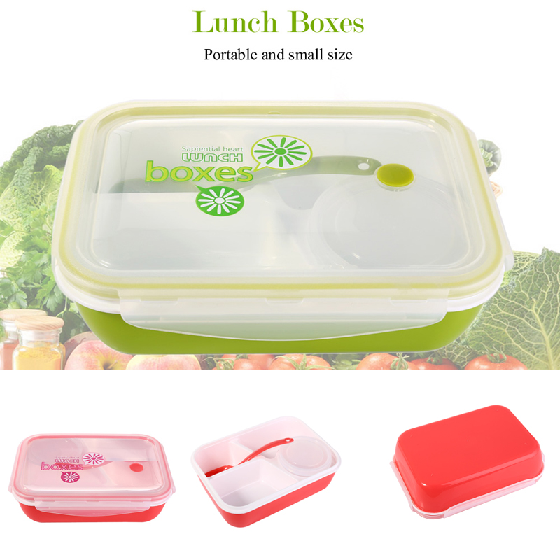 portable lunchbox 4 compartments bento lunch box set microwave bento box multifunction food. Black Bedroom Furniture Sets. Home Design Ideas