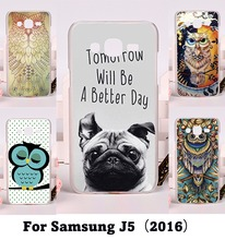 Colorful Aniaml Painting Case For Samsung Galaxy J5 2016 J510F SM-J5108 With Secret GardenOwlTigerZebraHarajuku Phone Skin