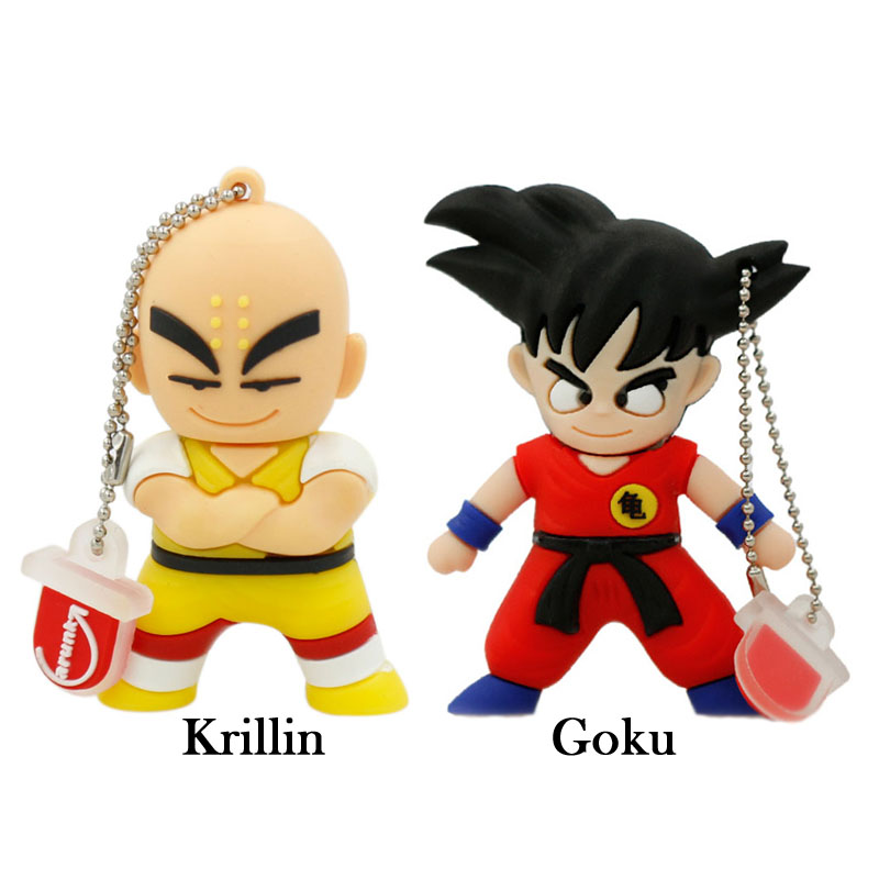 pen drive cartoon Dragon Ball u disk Goku Monkey King Krilin gift 4gb 8gb 16gb 32gb usb flash drive prawn pendrive Free shipping(China (Mainland))
