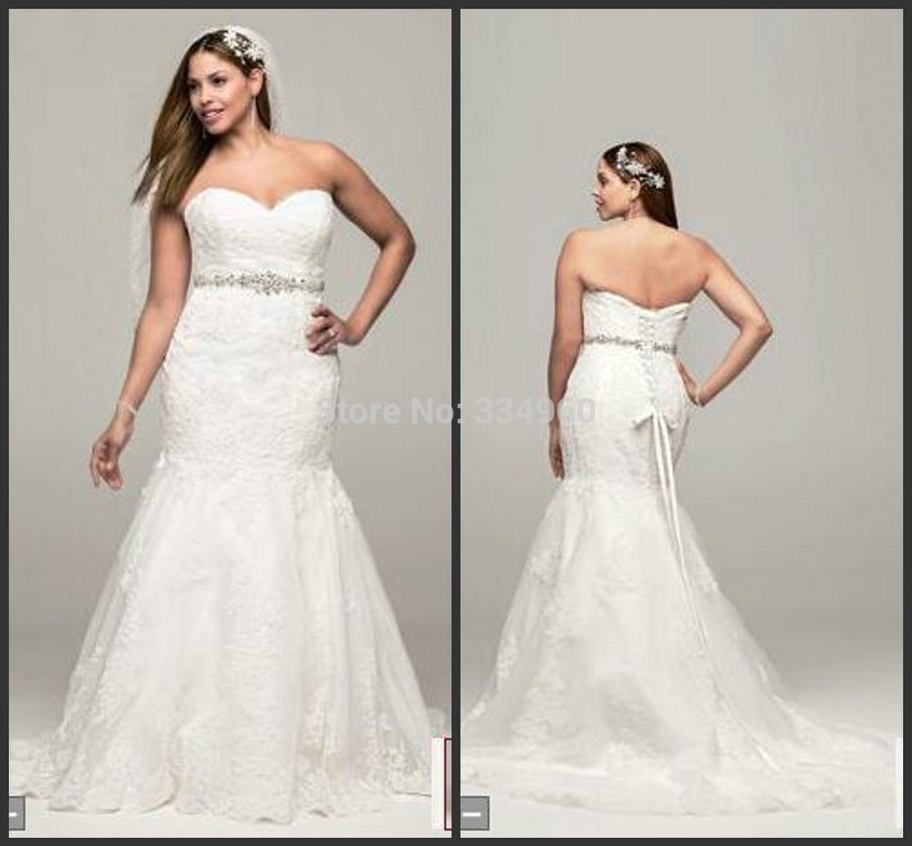 Plus size wedding dresses dress gowns 2014 free shipping for Wedding dresses with lace up back