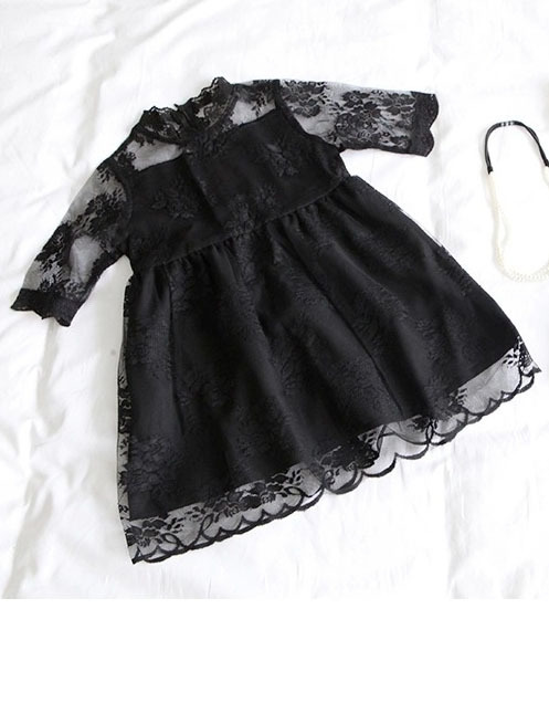 () 2016 spring lace dress child girl - guangdong humen costume Factory store