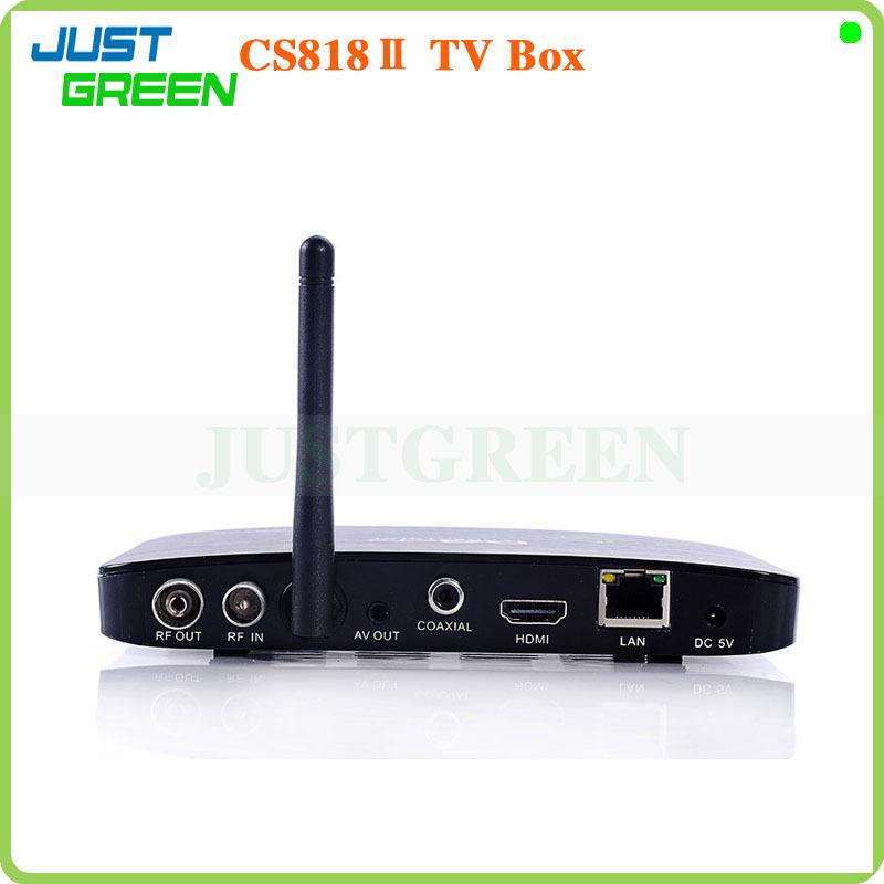 New Hot Google Android Smart TV Box CS818II Dual Core 1GB/8GB Support Mouse/Keyboard Full HD 1080P HDMI CVBS RJ45 DLNA WI-FI(China (Mainland))