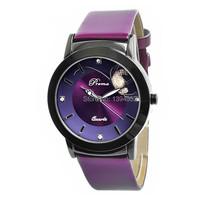 2015 Hot Sale Watches Relogios Femininos Brand Quartz PU Band Czech Crystal Women Watch Luminous Wristwatch