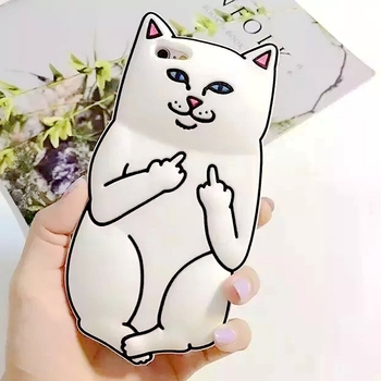 Hot Funny 3D Animal RIPNDIP Pocket Cat Fundas Capa Soft Silicon Phone Cases For iPhone X 5 5S 6 6S Plus 7 7Plus 8 Plus Cover
