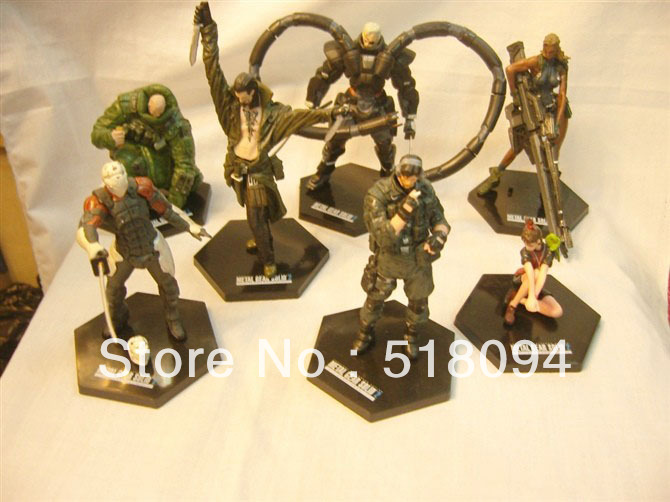 Free Shipping 1set Metal Gear Solid PVC Action Figure Collection Toy Game Toys 7pcs/set MVFG100<br><br>Aliexpress