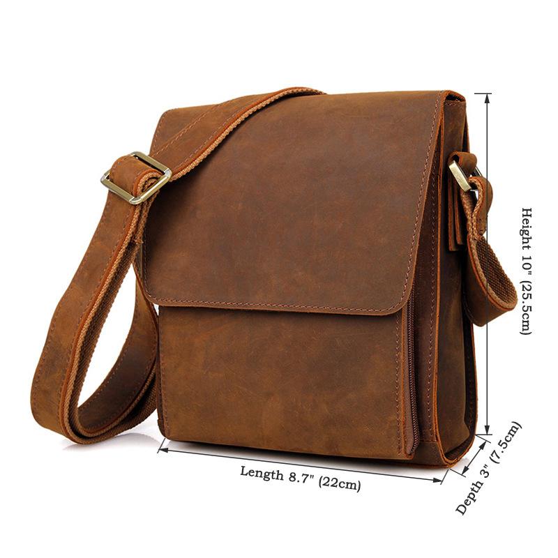 ซื้อ วินเทจผู้ชายMessengerกระเป๋าเล็กหนังแท้กระเป๋าสะพายC Rossbodyหนังผู้ชายกระเป๋าผู้ชายกระเป๋าสบายๆขนาดเล็กพนัง