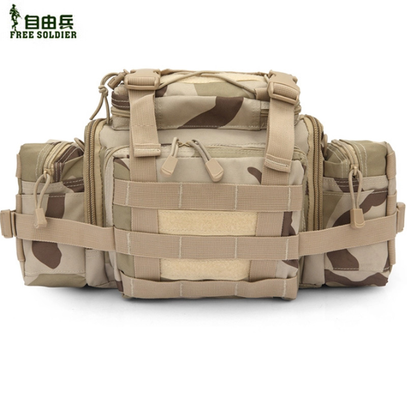 Free Soldier Tactical Super Large waist bag Multifunctional Satchel SLR camera bag 1000D Nylon Fabric Waterproof MOLLE System(China (Mainland))