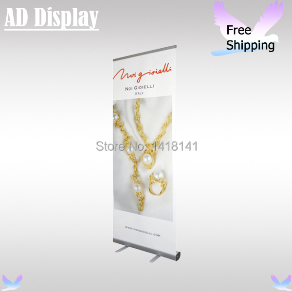 Free Shipping(USA,Canada,Australia) 80*200cm Standard Exhibition Roll Up Banner Display Stand With Printing PVC Synthetic Paper(China (Mainland))