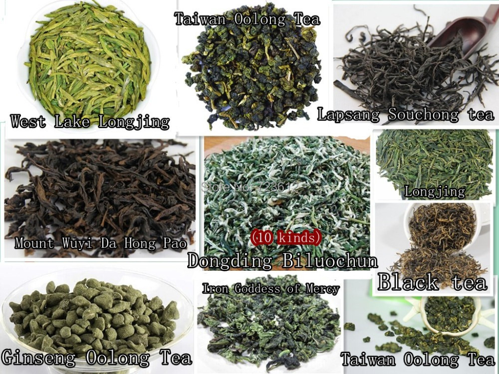 (10 kinds) a combination of high-quality tea AA! Taiwan oolong tea! Iron Goddess of Mercy! Green tea! Longjing! Free shipping!(China (Mainland))