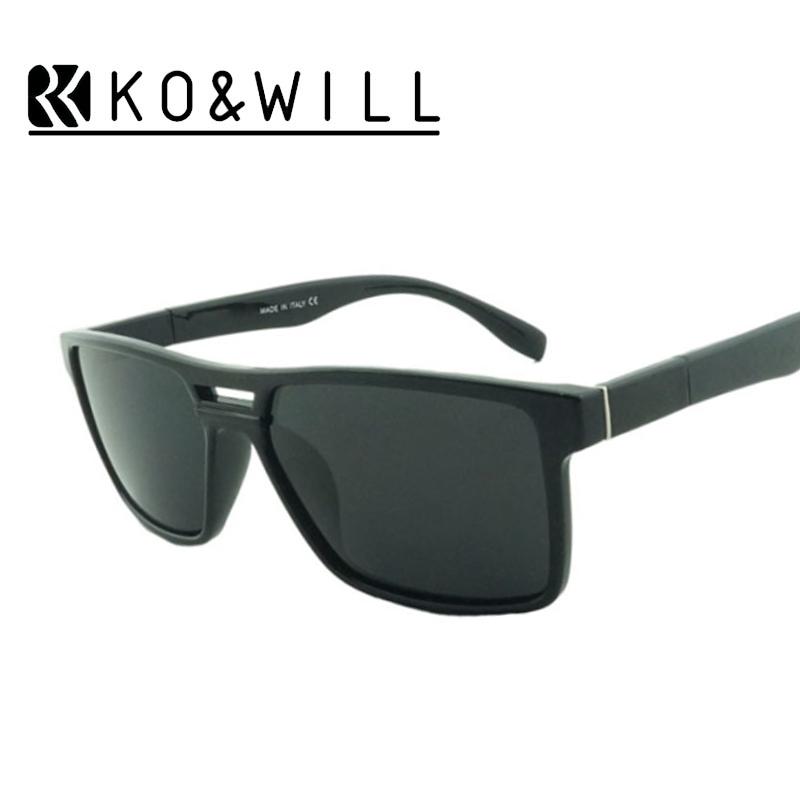 KOWILL New Black Sunglasses Men Polarized Original Brand Designer Summer Type Shield Sun Glasses UV400 Oculos de Sol 1408PY(China (Mainland))