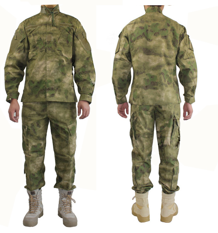 Фотография New Arrival Ripstop A-TACS FG Tactical Camouflage Suit Airsoft Paintball Hunting Suit Tactical Clothing Ghillie Suit Cotton