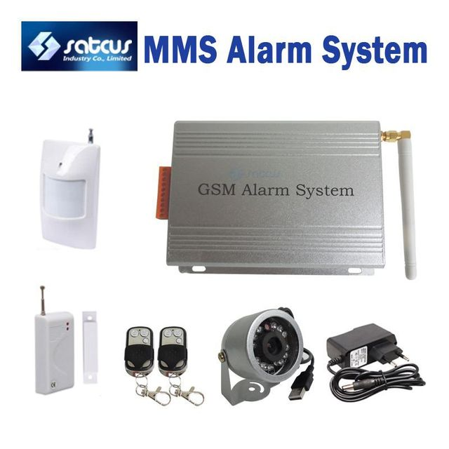 DVR  MMS Alarm System With Motion Detect Night Vision IR Camera VGA 640x480 GSM Burglar Security Alarm System  SC-205