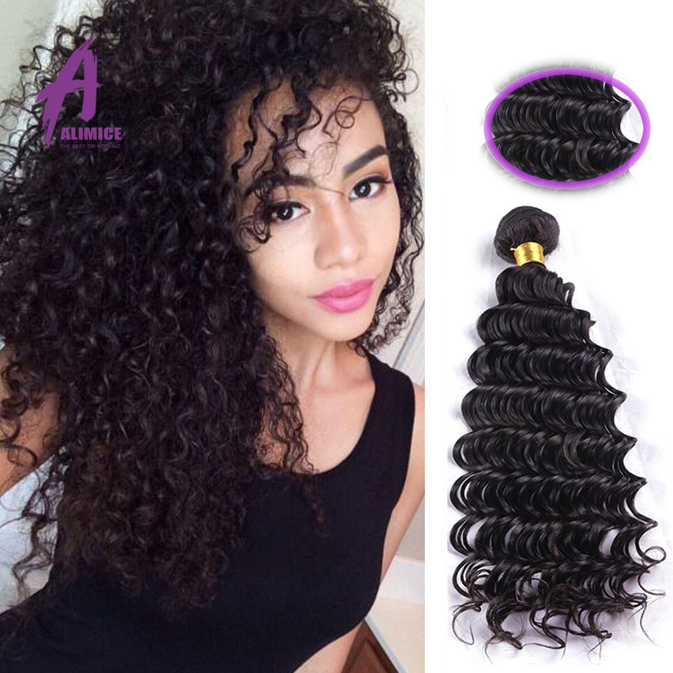 2016 Queen Hair Products Deep Wave Curly Hair Brazilian Virgin Hair Deep Wave Human Hair Weave Alimice Factory Directly Supply<br><br>Aliexpress