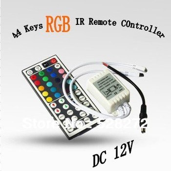 1PC RGB controller 44 Key IR Remote Controller for SMD 3528/5050 RGB 12V LED Strip Lights led adapter