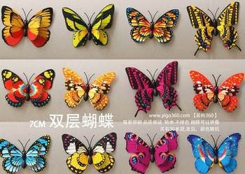 10 шт. / комплект 3D красивый реалистичный двойной крыло искусственный бабочка для свадьба украшения для дома ну вечеринку украшение