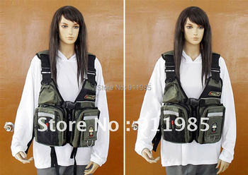 Pacific commercial fishing many pockets removable dual-use life-saving suit vest life jacket fishing tackle