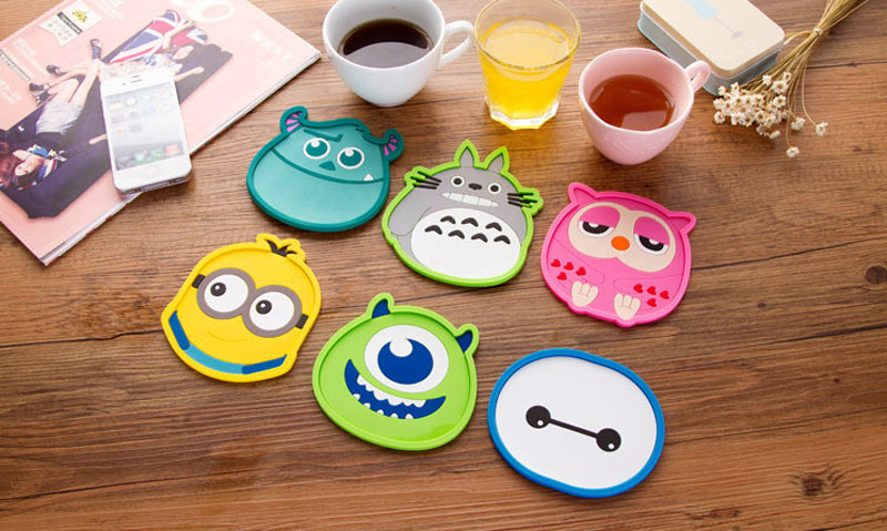 1 Piece silicone dining table placemat coaster font b kitchen b font font b accessories b