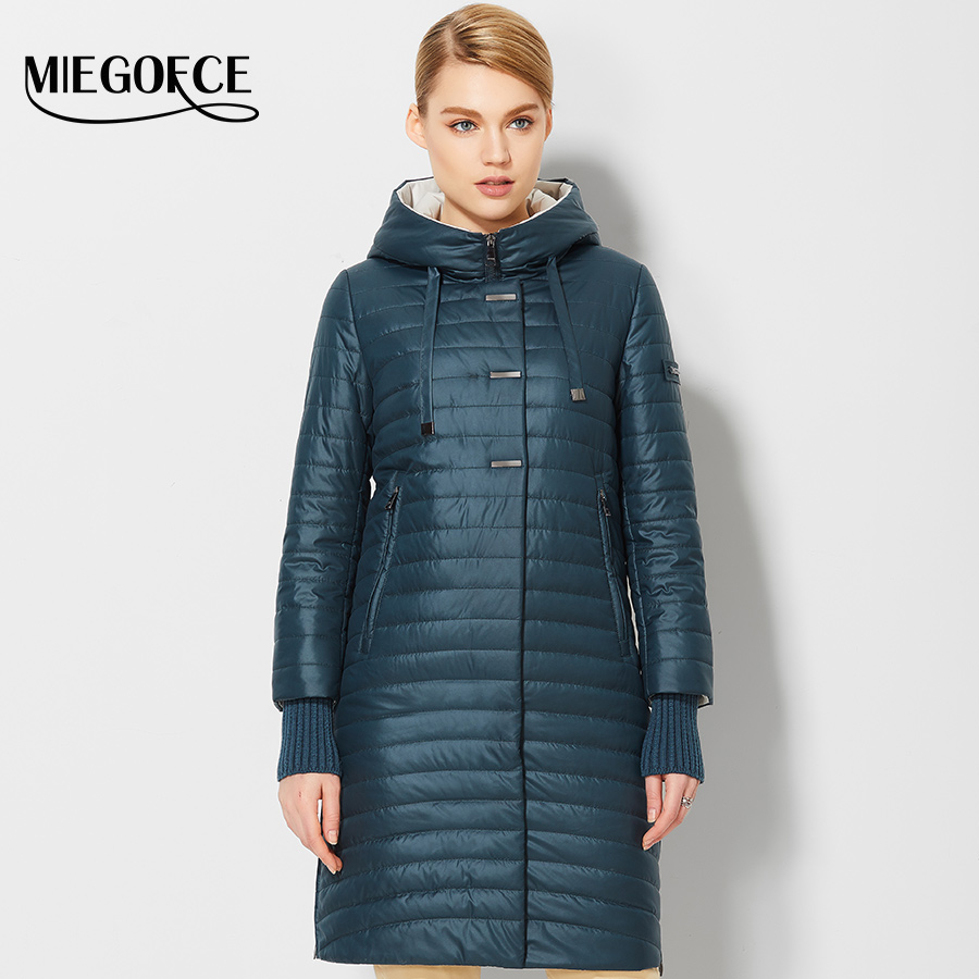 2017 Women's Spring Jackets Coats With Hood Fashion Windproof Womens Parkas High Quality Womens Quilted Coat MIEGOFCE Hot Sale(China (Mainland))
