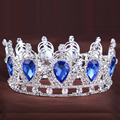 2016 King Queen Crown for wedding party rhinestone Crown crystal crown Water Drop Tiaras Gold Silver