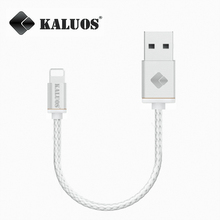 Brand KALUOS 20cm Portable 8-Pin USB Data Sync Charge Cable For iPhone 5 5S 5C 6 6S Plus SE iPad mini 2 3 Air Fast Charging Line