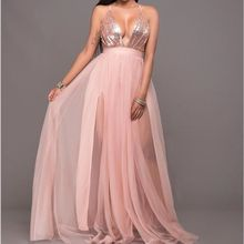 Buy New Formal Evening Ball Gown Party Prom Sequin Backless Long Dresses for $13.26 in AliExpress store