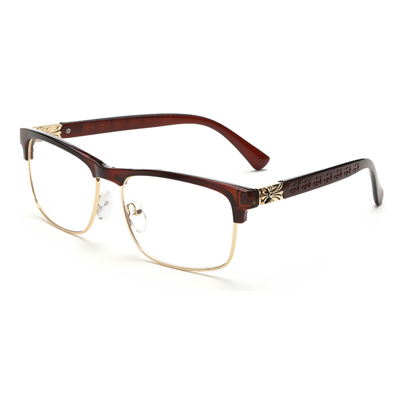 Latest Glasses Frame Designs : Latest trend cross eye glasses frames for women UV400 men ...