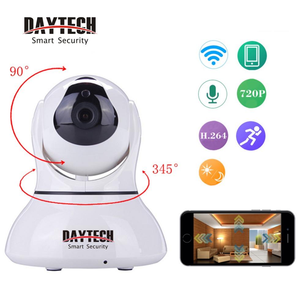 Daytech IP Camera WiFi Security Camera Wi-Fi Infrared Night Vision Two Way Audio H.264 P2P CMOS Pan Tilt Mini Wifi Cam()