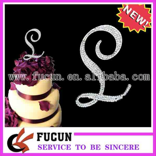 diamante cake topper,decorate wedding cake,clear stone+silver plating(China (Mainland))